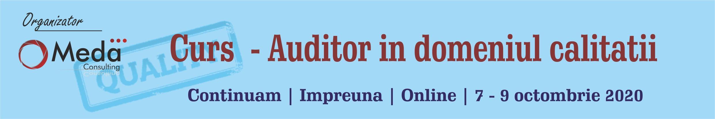 Curs - Auditor in doeniul calitatii