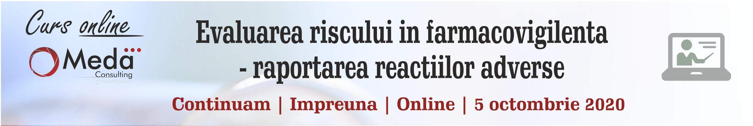 Evaluarea riscului in farmacovigilenta - raportarea reactiilor adverse