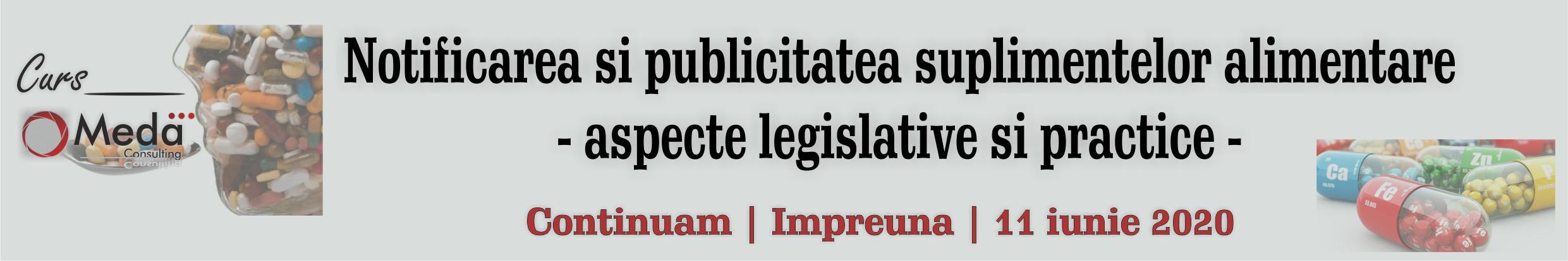 notificarea si publicitatea suplimentelor alimentare - aspecte legislative si practice
