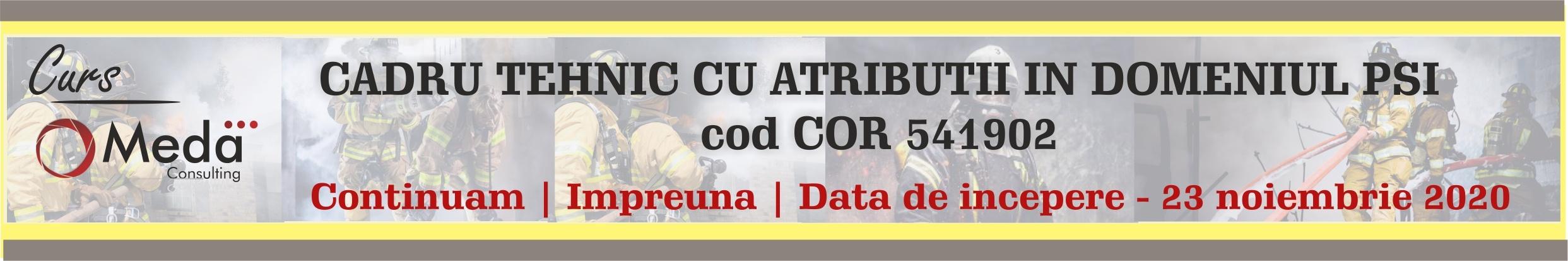 Cadru tehnic cu atributii in domeniul PSI cod cor 541902
