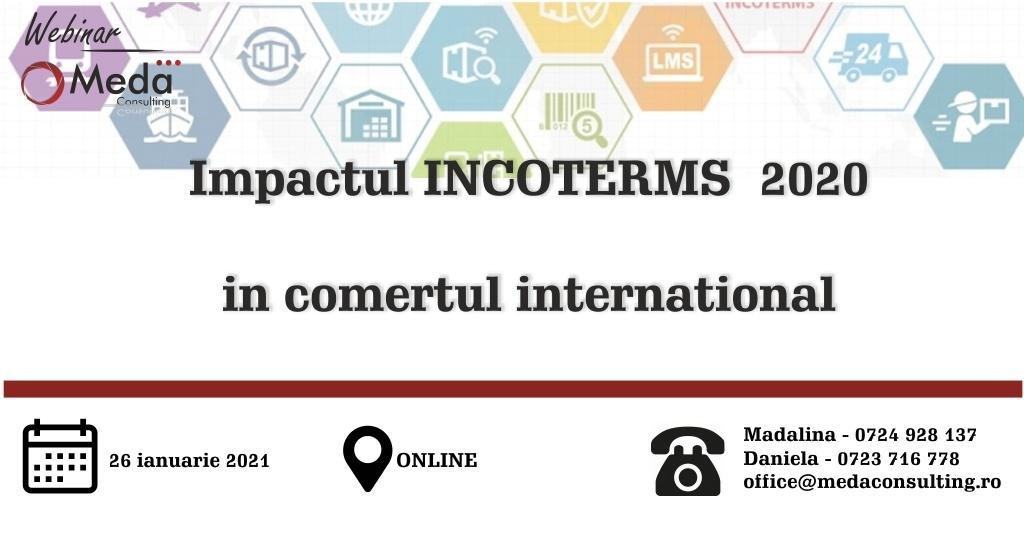 Impactul INCOTERMS® 2020 in comertul international - 26 ianuarie 2021 Meda Consulting